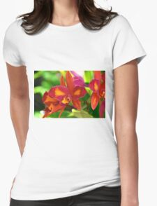 Fiery Orchids Womens Fitted T-Shirt