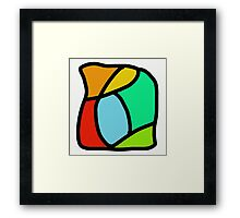 BOLD COLORFUL ABSTRACT ART Framed Print