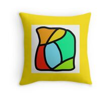 BOLD COLORFUL ABSTRACT ART Throw Pillow