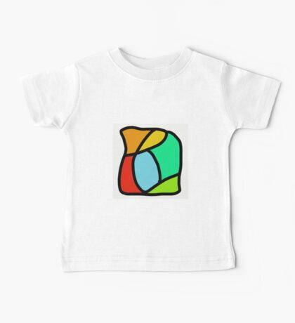BOLD COLORFUL ABSTRACT ART Baby Tee