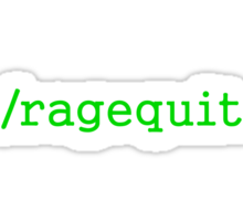 Ragequit Gamer Sticker