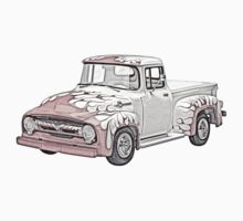 1956 Ford F100 Pickup One Piece - Short Sleeve