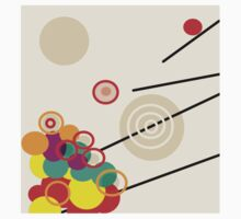 BALLS BUBBLES and RODS Modern Abstract Kids Tee