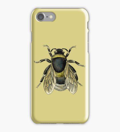 antique typographic vintage honey bee iPhone Case/Skin