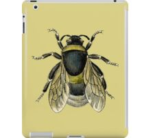 antique typographic vintage honey bee iPad Case/Skin