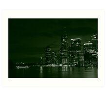 Brisbane City-03 Art Print