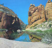Glen Helen Gorge, Northern Territory, Australia by Bev Hardidge