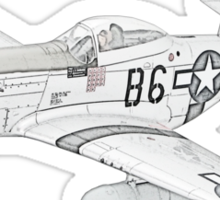 North American Aviation P-51 Mustang Sticker