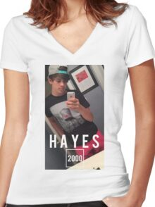 HAYES 2000 Women's Fitted V-Neck T-Shirt