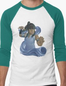 Korra Waterbends Men's Baseball ¾ T-Shirt