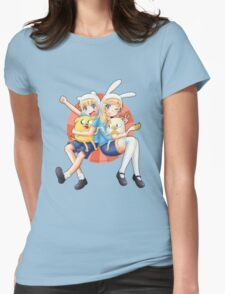 Anime Adventure Time! Womens Fitted T-Shirt