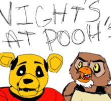 Five Nights at Pooh Bears Sticker