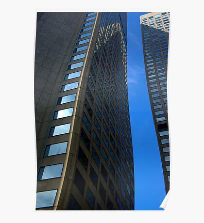 Buildings - Blue Stripe Poster