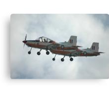 A Pair Of Plastic Parrots - ex-RAAF CT4 Airtrainers Canvas Print
