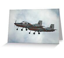 A Pair Of Plastic Parrots - ex-RAAF CT4 Airtrainers Greeting Card