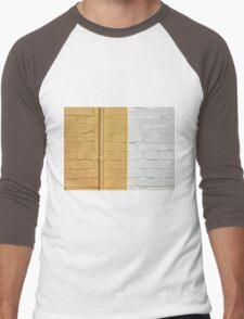 Yellow white bricks wall Men's Baseball ¾ T-Shirt