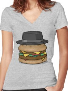 Heisenburger Women's Fitted V-Neck T-Shirt