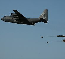 Hercules Delivers, Amberley RAAF Base, Qld, Australia by muz2142