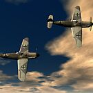 Me109g's by Walter Colvin