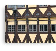Traditional decorated house in Denmark Canvas Print
