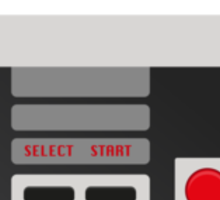 Retro Gamer Design Player 2 Sticker