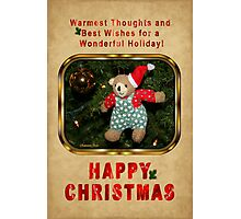 Happy Christmas Wishes ~ Teddy Bear Photographic Print