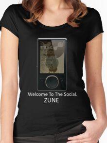 Zune Tee (Black) Women's Fitted Scoop T-Shirt