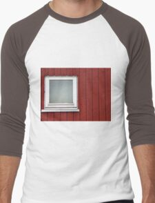Architecture abstract - wall and window Men's Baseball ¾ T-Shirt