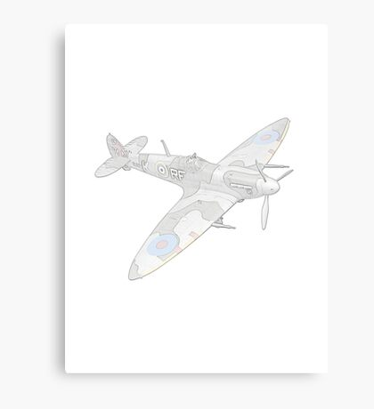 1936 WWII Spitfire Fighter Airplane Canvas Print