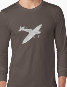 1936 WWII Spitfire Fighter Airplane Long Sleeve T-Shirt