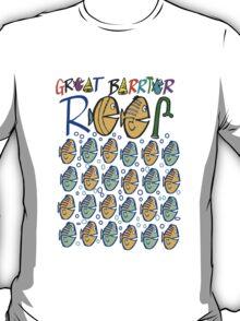 Fun colourful original t-shirt design featuring Great Barrier Reef T-Shirt