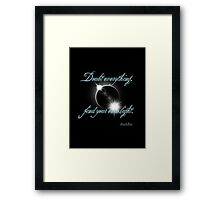 Buddha Quote - Find Your Own Light Framed Print
