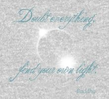 Buddha Quote - Find Your Own Light One Piece - Short Sleeve