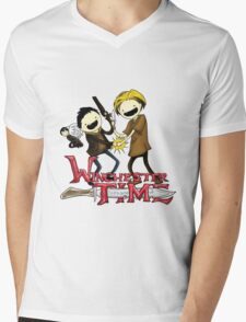 Winchester Time with Sam and Dean tshirt Mens V-Neck T-Shirt