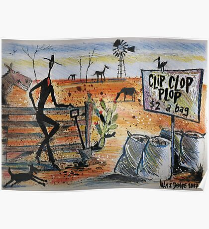 Clip clop plop Poster