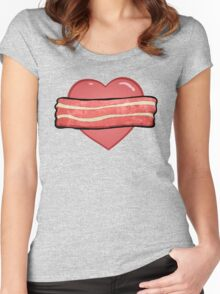 I love bacon. Women's Fitted Scoop T-Shirt