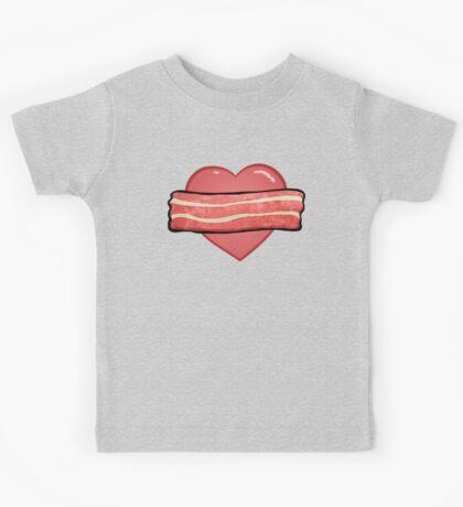 I love bacon. Kids Tee
