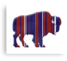 American Bison - Buffalo silhouette Canvas Print
