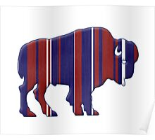 American Bison - Buffalo silhouette Poster