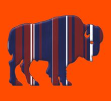 American Bison - Buffalo silhouette Kids Clothes