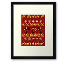 Christmas Games Ugly Sweater Shirt Framed Print