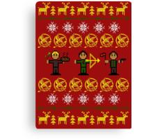 Christmas Games Ugly Sweater Shirt Canvas Print