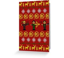 Christmas Games Ugly Sweater Shirt Greeting Card