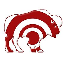 Bulls-eye Target Buffalo Silhouette by surgedesigns