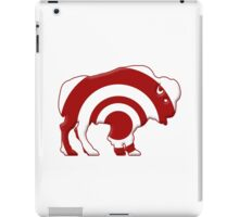 Bulls-eye Target Buffalo Silhouette iPad Case/Skin