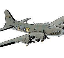 Boeing B-17 Flying Fortress Memphis Belle by surgedesigns
