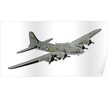 Boeing B-17 Flying Fortress Memphis Belle Poster