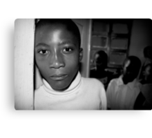 'Orphan' Mamaan Jeanne's orphanage, Democratic Republic of Congo Canvas Print