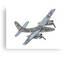 Grumman F7F Tigercat Airplane Canvas Print