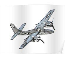 Grumman F7F Tigercat Airplane Poster
